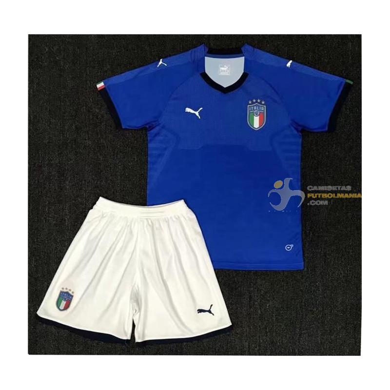 Camiseta y Pantalón Niños Italia Primera Equipación 2018 home jersey ac1b5113897c7