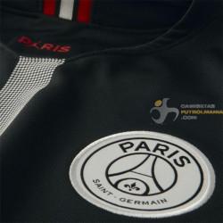 nitrógeno dos semanas viva  Camiseta Paris Saint-Germain Tercera Equipación Negra Versión Air Jordan  Champions League 2018-2019