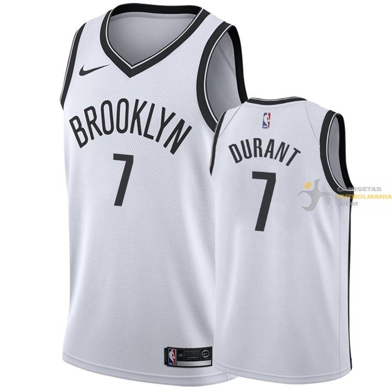 Camiseta NBA Kevin Durant de Brooklyn Nets Blanca-2 2019-2020