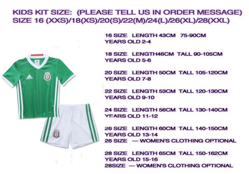 28bb073ed Tabla aproximada de Tallas de Camisetas y Equipaciones para Niños y Niñas